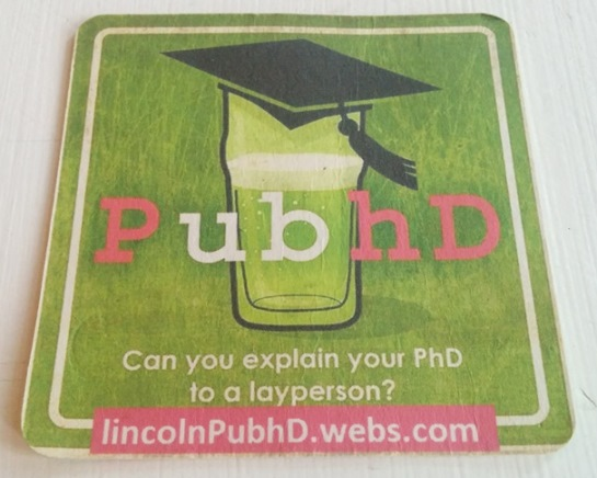 PubhD (Lincoln) beer mat